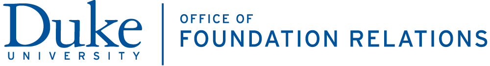 Duke Office of Foundation Relations